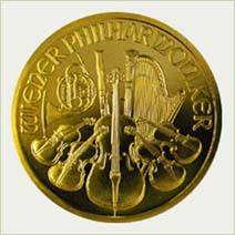 Austrian Philharmonic gold coin obverse - picture
